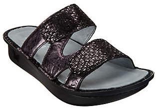Alegria Leather Adjustable Slide Sandals -Camille