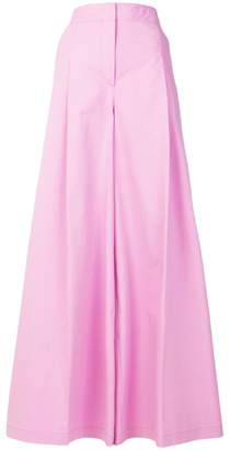 MSGM pleat detail palazzo trousers