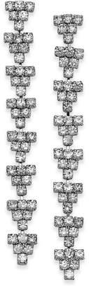 INC International Concepts I.n.c. Silver-Tone Crystal Geo Drop Earrings, Created for Macy's