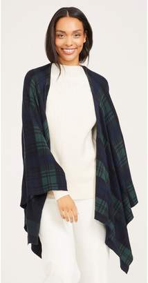 J.Mclaughlin Harrow Wrap in Plaid Jacquard