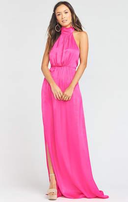 Show Me Your Mumu Collette Collar Dress ~ Flirty Fuchsia Sheen