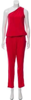 Ramy Brook Asymmetrical Silk Jumpsuit