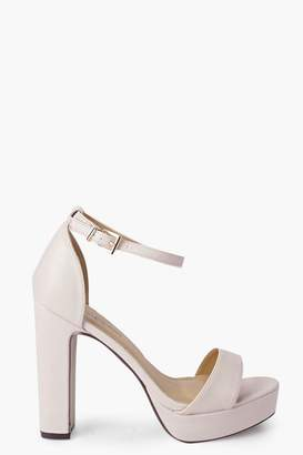 boohoo Imogen Two Part Platform Heels