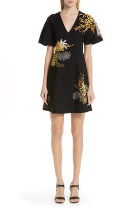 796328f3653 Valentino Mimosa Embroidered Fit   Flare Dress
