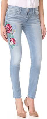 True Religion Halle Mid Rise Embroidered Skinny Jeans $229 thestylecure.com
