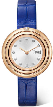 Piaget Possession 29mm Alligator, 18-karat Rose Gold Diamond Watch