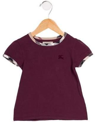Burberry Girls' Nova-Trimmed T-Shirt
