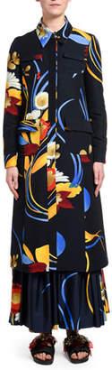 Double J Big Mama Flower Midi Coat