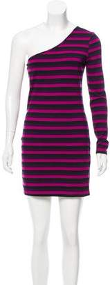 Torn By Ronny Kobo One-Shoulder Striped Dress
