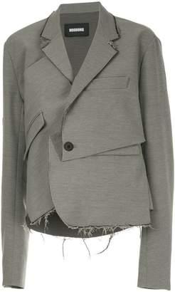 Moohong deconstructed draped blazer