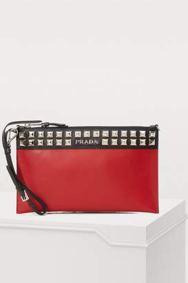 Prada Studded clutch