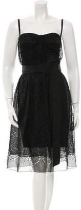 Dolce & Gabbana Sleeveless Eyelet Dress w/ Tags