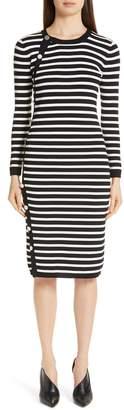 Altuzarra Side Button Stripe Body-Con Dress