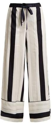 ADAM by Adam Lippes Striped Jacquard Trousers - Womens - Navy White