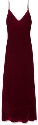 Les Rêveries - Velvet Slip Dress - Burgundy