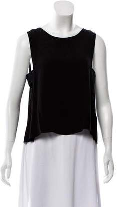 Veda Leather-Accented Sleeveless Top w/ Tags