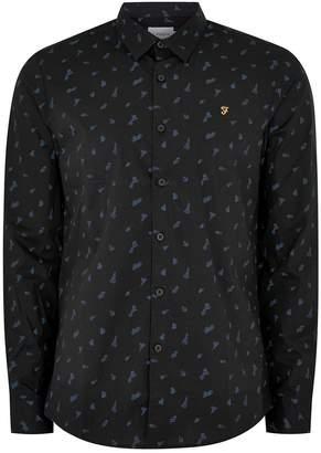 Topman FARAH'S Black Printed Shirt