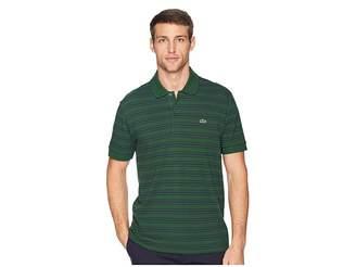 Lacoste Short Sleeve Regular Fit Petit Pique Polo w/ Fine Stripes