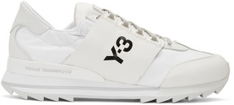 Y-3 White Rhita Sport Sneakers $290 thestylecure.com