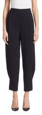 Emporio Armani Tapered Leg Back Zip Pants
