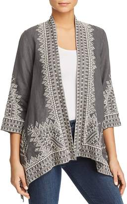Johnny Was Cami Embroidered Linen Kimono
