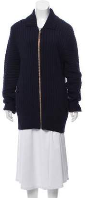 Acne Studios Zipper-Accented Heavy Wool Cardigan