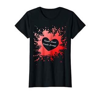 Womens Kinda Sweet Kinda Savage - Kinda Sweet Kinda Slogan T-Shirt