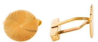Bvlgari Vintage Textured Disc Cufflinks yellow Vintage Textured Disc Cufflinks