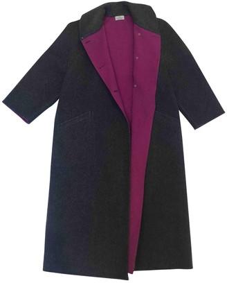 Valentino Grey Cashmere Coat for Women Vintage