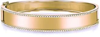 Shay Name Plate Bangle Bracelet with Diamond Trim