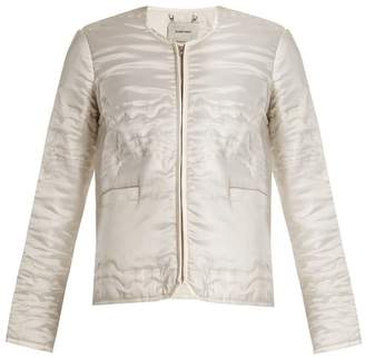 Rachel Comey Bedroom collarless Waves-quilted satin jacket
