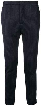 Emporio Armani pinstripe tapered trousers
