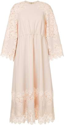 Huishan Zhang floral lace midi dress