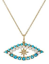 Ileana Makri Women's Shiny Star Eye Necklace-Yellow Gold