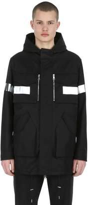 Neil Barrett Hooded Reflective Cotton Blend Parka