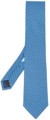 Salvatore Ferragamo chained Gancini print tie