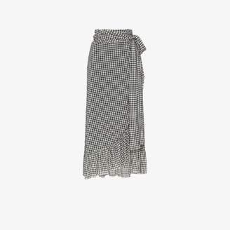 69bcaa979eaf Ganni asymmetric gingham skirt