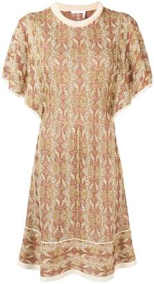 Chloé ruffle sleeve sweater dress