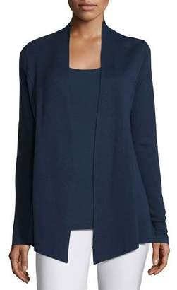 Eileen Fisher Silk Organic Cotton Open Cardigan, Midnight $298 thestylecure.com