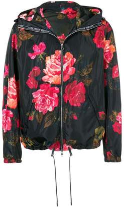 Alexander McQueen Painted Rose Blouson jacket