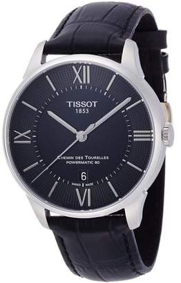 Tissot Men's 42mm Black Alligator Leather Band Steel Case S. Sapphire Automatic Watch T0994071605800