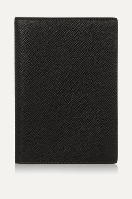 Smythson Textured-leather Passport Cover - Black