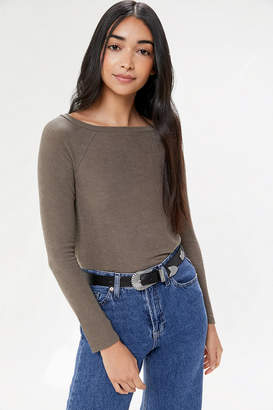 Out From Under Luka Raglan Essential Boat Neck Top