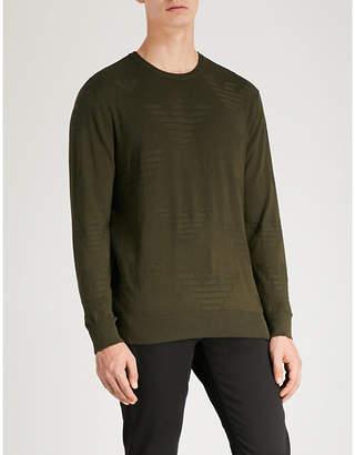 Emporio Armani Eagle-intarsia knitted jumper