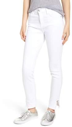 Current/Elliott Stiletto High Waist Frayed Split Hem Skinny Jeans