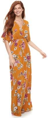 Love, Fire Love Fire Juniors' Printed Kimono Sleeve Maxi Dress