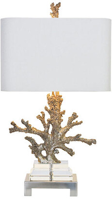 Couture Coral Table Lamp - Brushed Steel