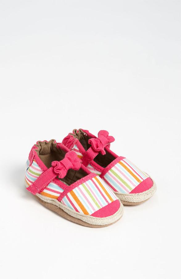 Robeez Stripe Espadrille Slip-On (Baby & Walker) Pink/ Multi 18-24 M
