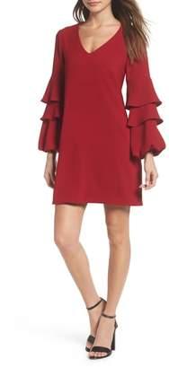 Charles Henry Tiered Ruffle Sleeve Dress