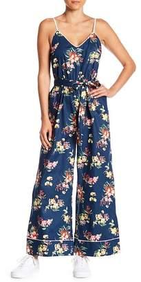 Do & Be Do + Be Floral Wide Leg V-Neck Jumpsuit